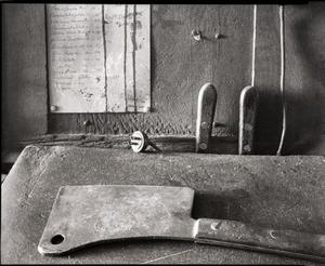 Primary view of object titled '[Meat cleaver]'.