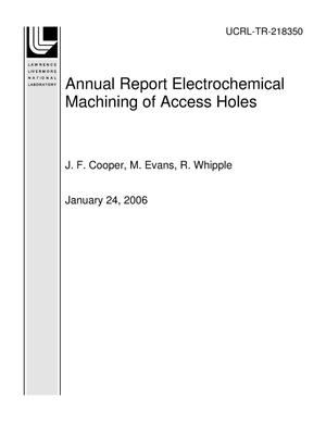 Primary view of object titled 'Annual Report Electrochemical Machining of Access Holes'.