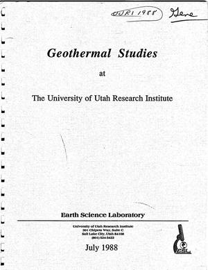 Primary view of object titled 'Geothermal studies at the University of Utah Research Institute'.