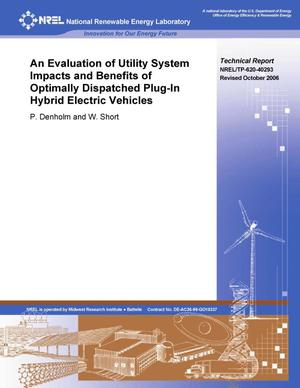 Primary view of object titled 'Evaluation of Utility System Impacts and Benefits of Optimally Dispatched Plug-In Hybrid Electric Vehicles (Revised)'.
