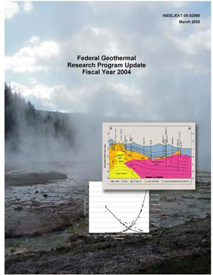 Primary view of object titled 'Federal Geothermal Research Program Update Fiscal Year 2004'.
