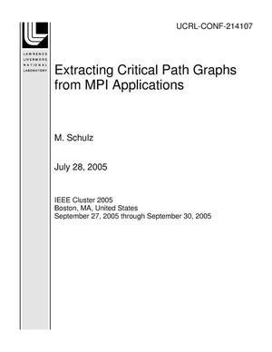 Primary view of object titled 'Extracting Critical Path Graphs from MPI Applications'.