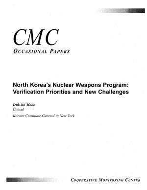 Primary view of object titled 'North Korea's nuclear weapons program:verification priorities and new challenges.'.