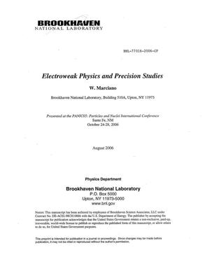 Primary view of object titled 'ELECTROWEAK PHYSICS AND PRECISION STUDIES.'.