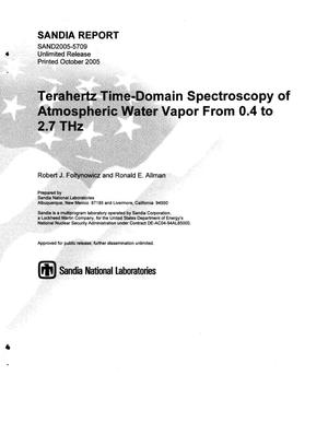 Primary view of object titled 'Terahertz time-domain spectroscopy of atmospheric water vapor from 0.4 to 2.7 THz.'.