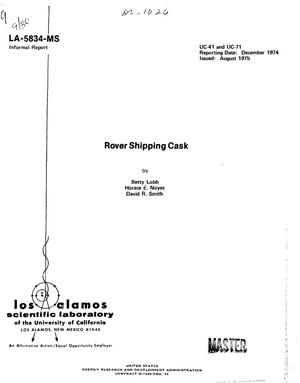 Primary view of object titled 'Rover shipping cask'.
