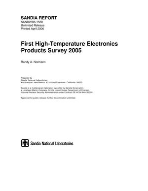 Primary view of object titled 'First high-temperature electronics products survey 2005.'.