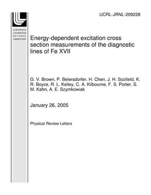 Primary view of object titled 'Energy-dependent excitation cross section measurements of the diagnostic lines of Fe XVII'.