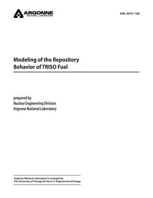 Primary view of object titled 'Modeling of the repository behavior of TRISO fuel.'.