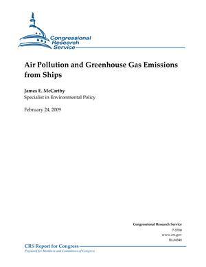Air Pollution and Greenhouse Gas Emissions from Ships