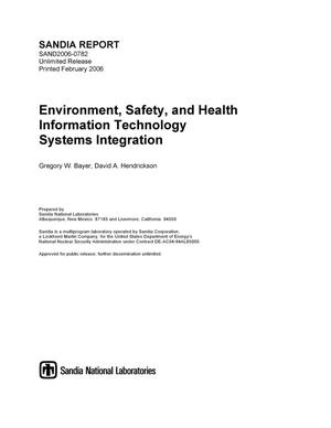 Primary view of object titled 'Environment, safety, and health information technology systems integration.'.