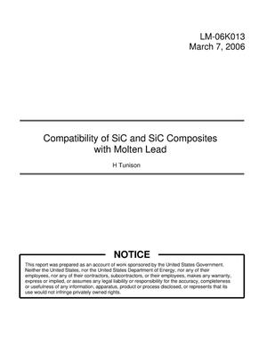 Primary view of object titled 'Compatibility of SiC and SiC Composites with Molten Lead'.