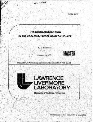 Primary view of object titled 'Hydrogen isotope flow in the rotating-target neutron source'.