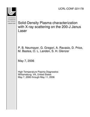 Primary view of object titled 'Solid-Density Plasma characterization with X-ray scattering on the 200-J Janus Laser'.
