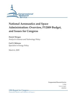 National Aeronautics and Space Administration: Overview, FY2009 Budget, and Issues for Congress