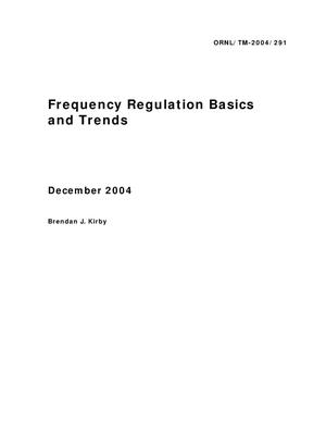 Primary view of object titled 'Frequency Regulation Basics and Trends'.