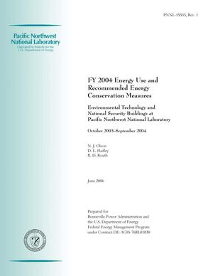 Primary view of object titled 'FY 2004 Energy Use and Recommended Energy Conservation Measures--Environmental Technology and National Security Buildings at Pacific Northwest National Laboratory'.