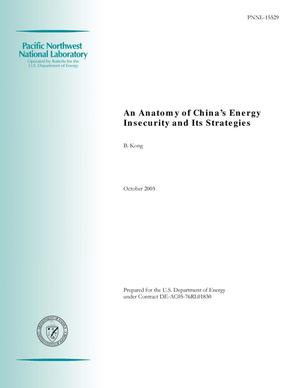 Primary view of object titled 'An Anatomy of China's Energy Insecurity and Its Strategies'.