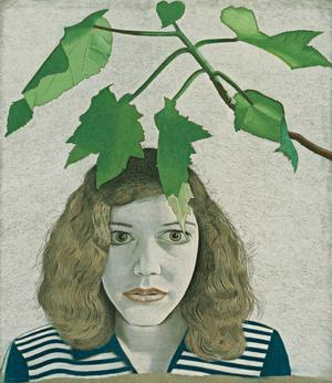 Primary view of object titled 'Girl with Leaves'.
