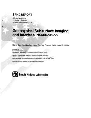 Primary view of object titled 'Geophysical subsurface imaging and interface identification.'.