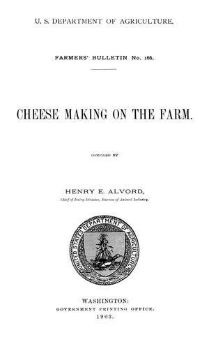 Primary view of object titled 'Cheese Making on the Farm'.