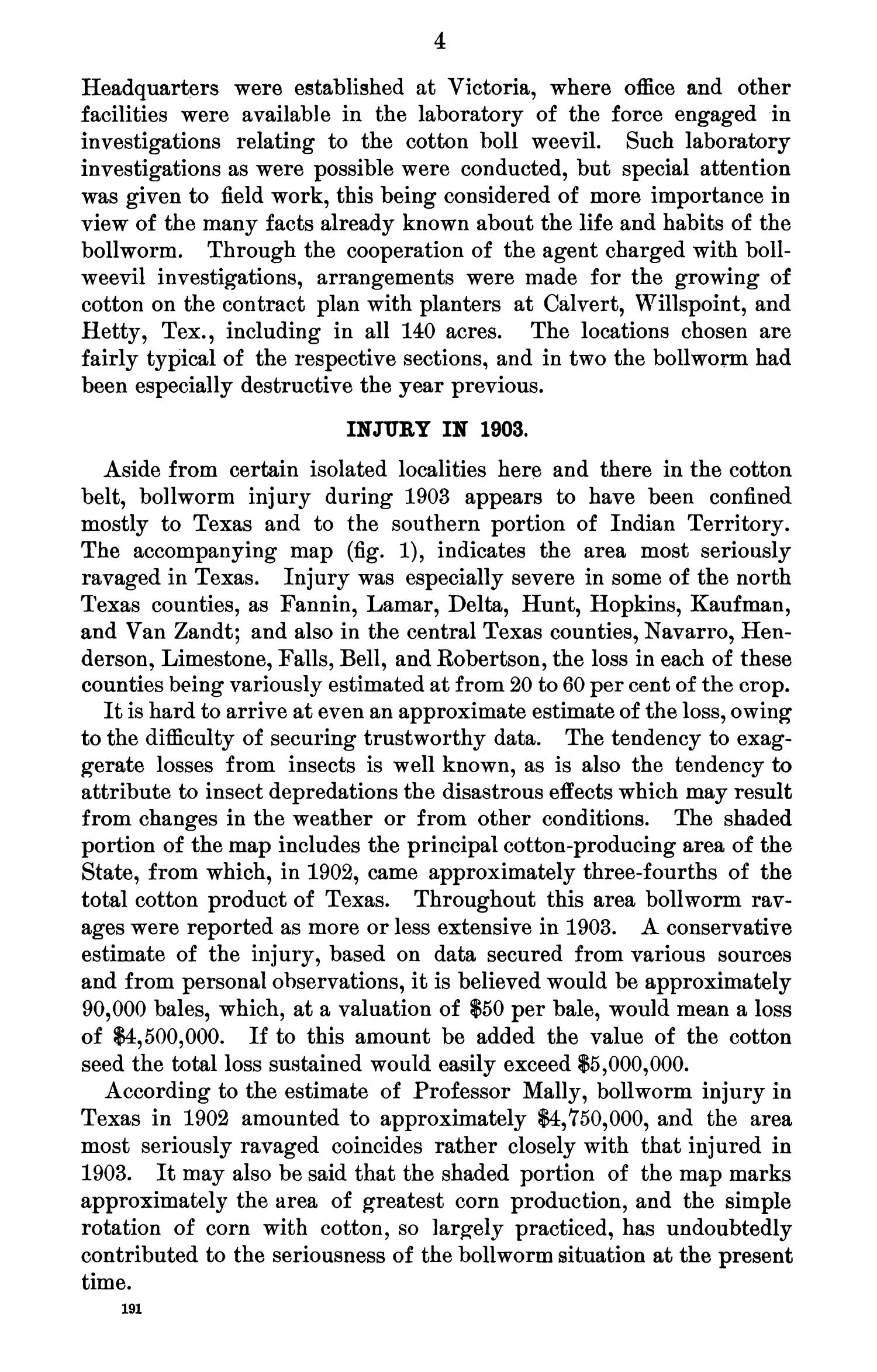The Cotton Bollworm: An Account of the insect, With Results of Experiments in 1903                                                                                                      4