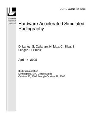 Primary view of object titled 'Hardware Accelerated Simulated Radiography'.