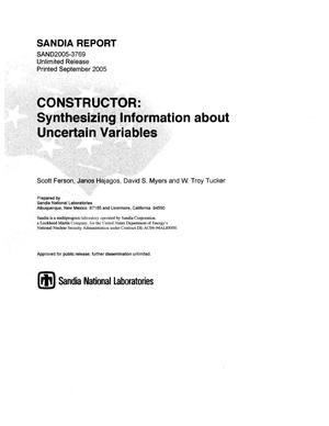 Primary view of object titled 'Constructor:synthesizing information about uncertain variables.'.