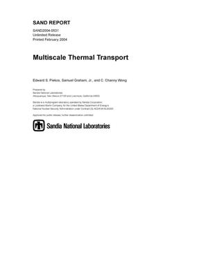 Primary view of object titled 'Multiscale thermal transport.'.