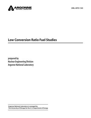 Primary view of object titled 'Low conversion ratio fuel studies.'.