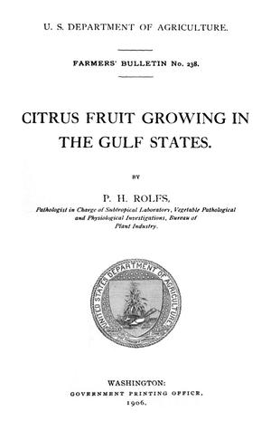 Primary view of object titled 'Citrus Fruit Growing in the Gulf States'.