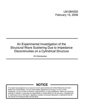 Primary view of object titled 'An Experimental Investigation of the Structural Wave Scattering Due to Impedance Discontinuities on a Cylindrical Structure'.