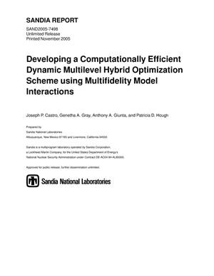 Primary view of object titled 'Developing a computationally efficient dynamic multilevel hybrid optimization scheme using multifidelity model interactions.'.