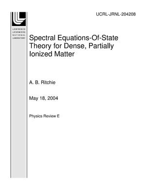 Primary view of object titled 'Spectral Equations-Of-State Theory for Dense, Partially Ionized Matter'.