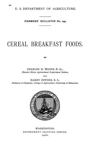 Primary view of object titled 'Cereal Breakfast Foods'.