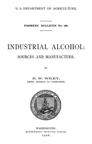 Primary view of Industrial Alcohol: Sources and Manufacture
