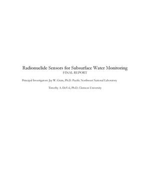 Primary view of object titled 'Radionuclide Sensors for Subsurface Water Monitoring'.