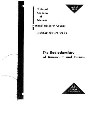 Primary view of object titled 'THE RADIOCHEMISTRY OF AMERICIUM AND CURIUM'.