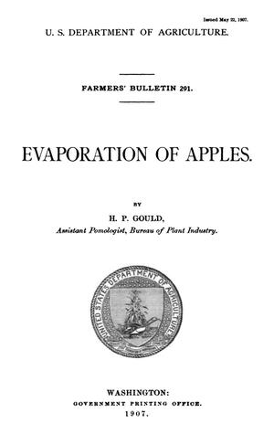Primary view of object titled 'Evaporation of Apples'.