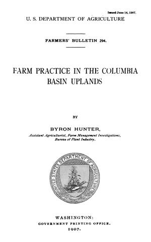 Primary view of object titled 'Farm Practice in the Columbia Basin Uplands'.