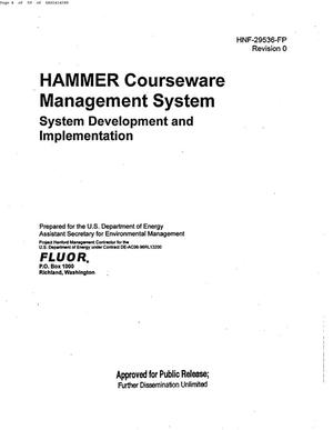 Primary view of object titled 'HAMMER COURSEWARE MANAGEMENT SYSTEM (CMS) SYSTEM DEVELOPMENT & IMPLEMENTATION'.