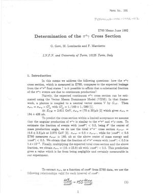 Primary view of object titled 'Determination of the pi0 gamma cross-section'.