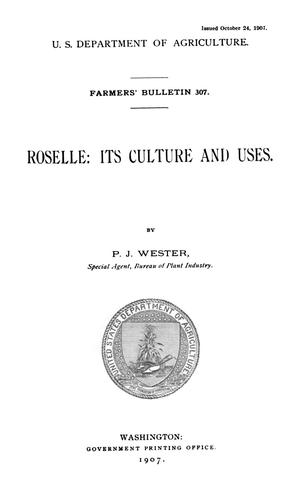 Primary view of Roselle: Its Culture and Uses