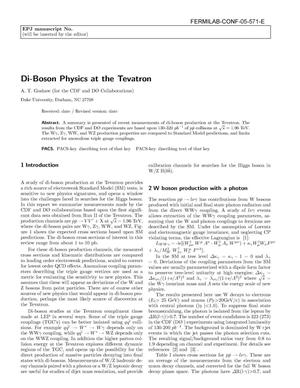 Primary view of object titled 'Di-boson physics at the Tevatron'.
