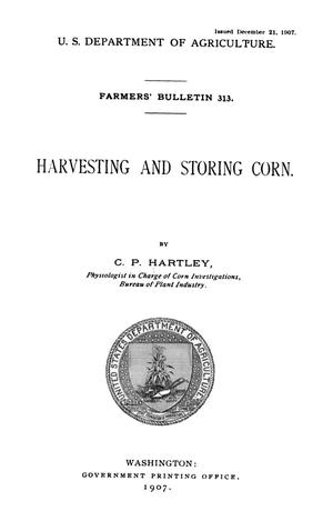 Primary view of object titled 'Harvesting and Storing Corn'.