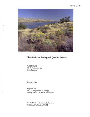 Primary view of object titled 'Hanford Site Ecological Quality Profile'.