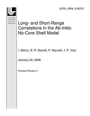 Primary view of object titled 'Long- and Short-Range Correlations in the Ab-Initio No-Core Shell Model'.