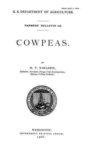 Primary view of object titled 'Cowpeas'.