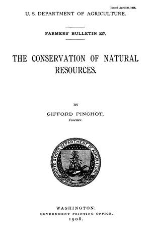 Primary view of object titled 'The Conservation of Natural Resources'.