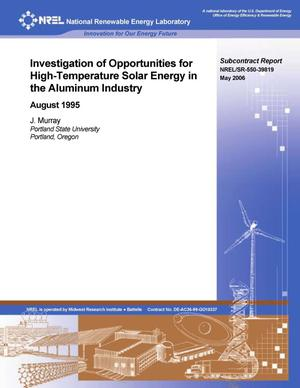 Primary view of object titled 'Investigation of Opportunities for High-Temperature Solar Energy in the Aluminum Industry'.